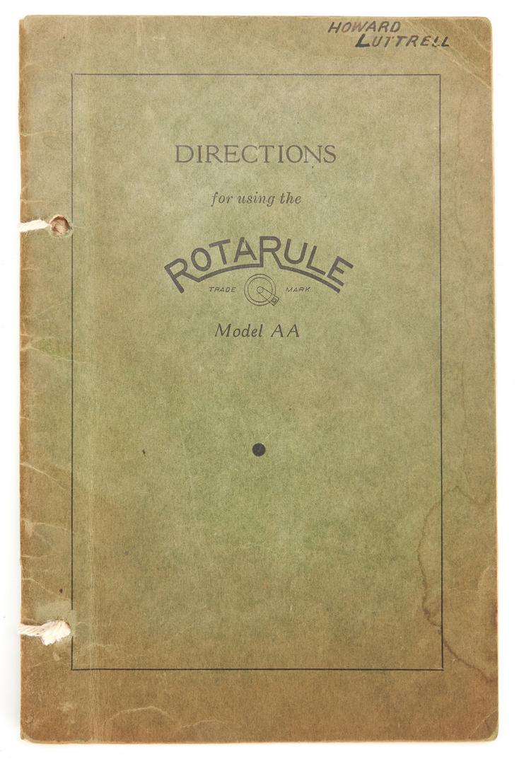 Lot 638: 2 Dietzgen 1798 Dempster RotaRule Model AA
