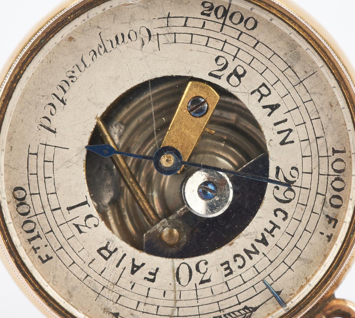 Lot 644: 18K Pocket Barometer, 19th Century