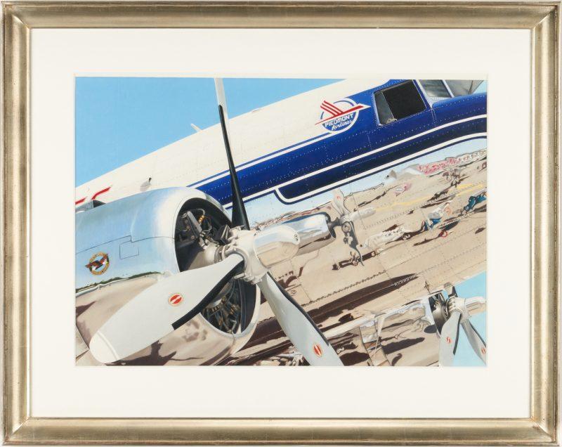 Lot 651: Scott Paulk Acrylic Painting, Piedmont Airlines