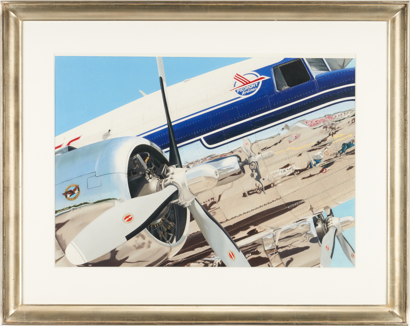 Lot 651: Scott Paulk Acrylic Painting, Piedmont Airlines