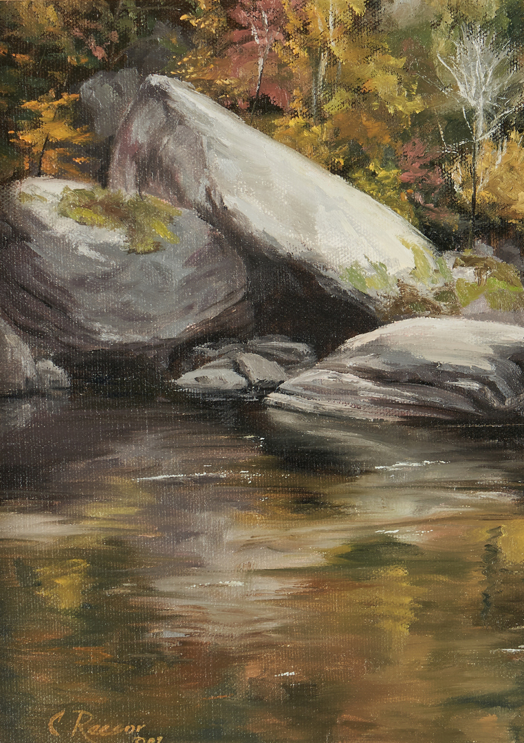 Lot 654: Carol Reesor O/C, Fall Reflections