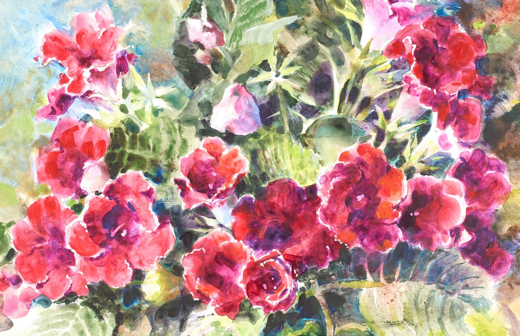 Lot 655: 2 Southern Still Lifes by Elizabeth Brandon, Josie Van Gent Edell