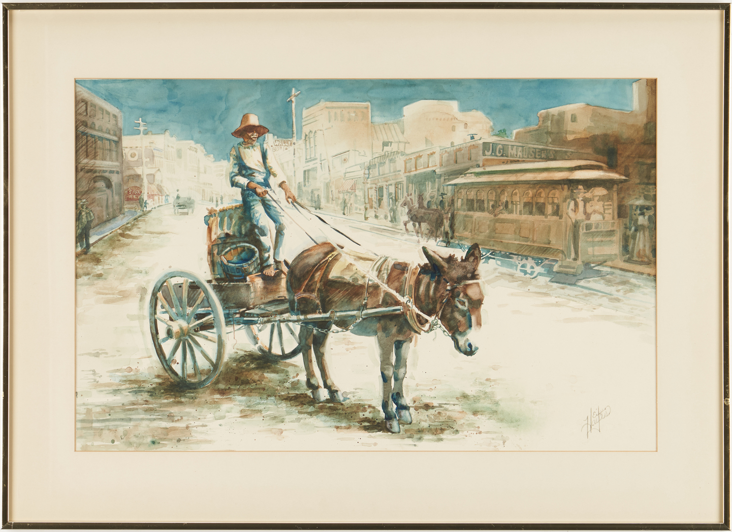 Lot 657: Knoxville Gay Street Watercolor, Eileen Hayes