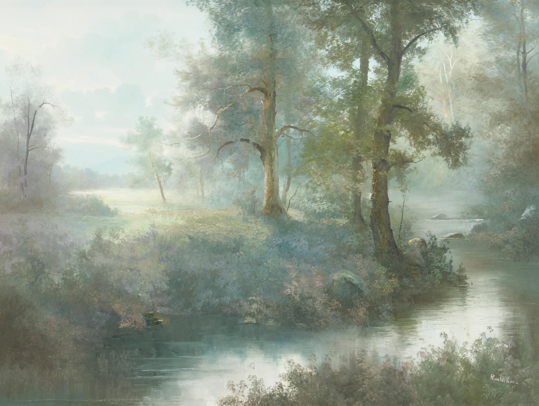 Lot 658: Ron Williams O/C, Landscape with Stream