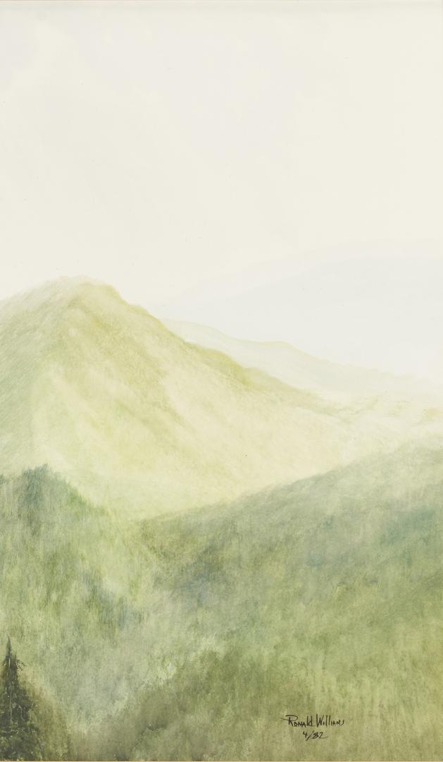 Lot 659: Ron Williams W/C, Springtime Smoky Mountains