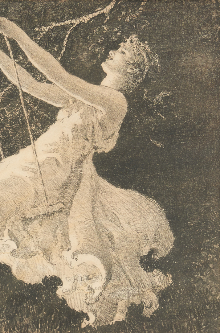 """Lot 663: 2 Arthur Spear Figural Prints, """"Sunrise"""" and """"The Swing"""""""