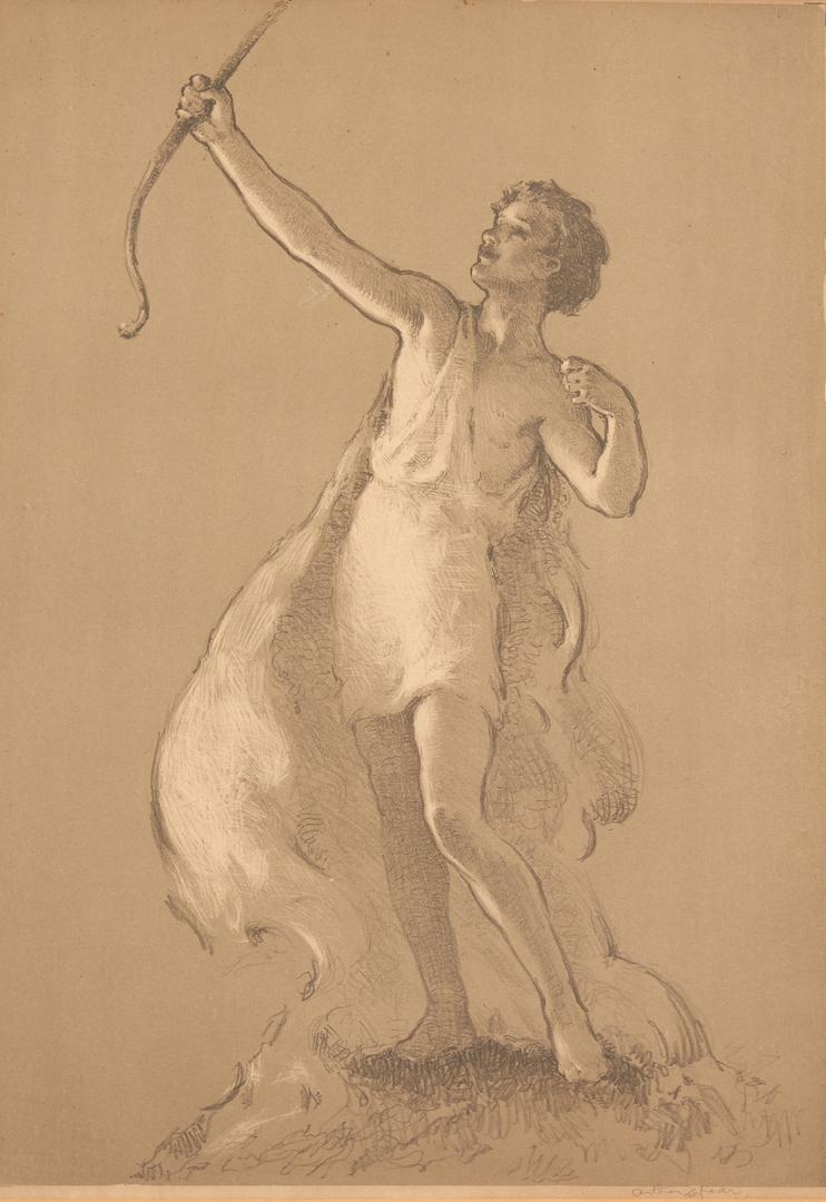 Lot 664: 2 Arthur Spear Figural Prints, Girl & Youth