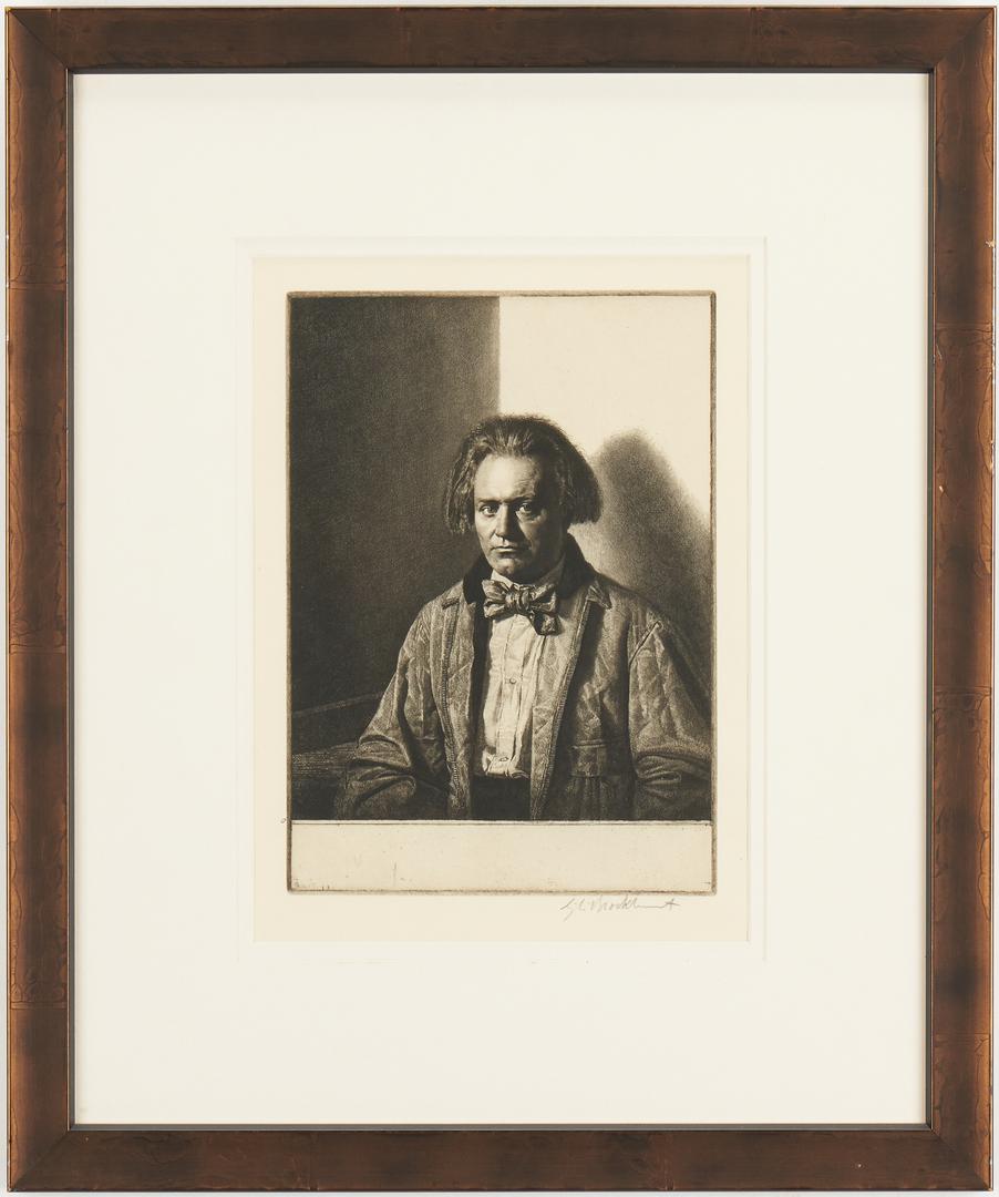 Lot 665: Gerald Brockhurst Etching, James McBey