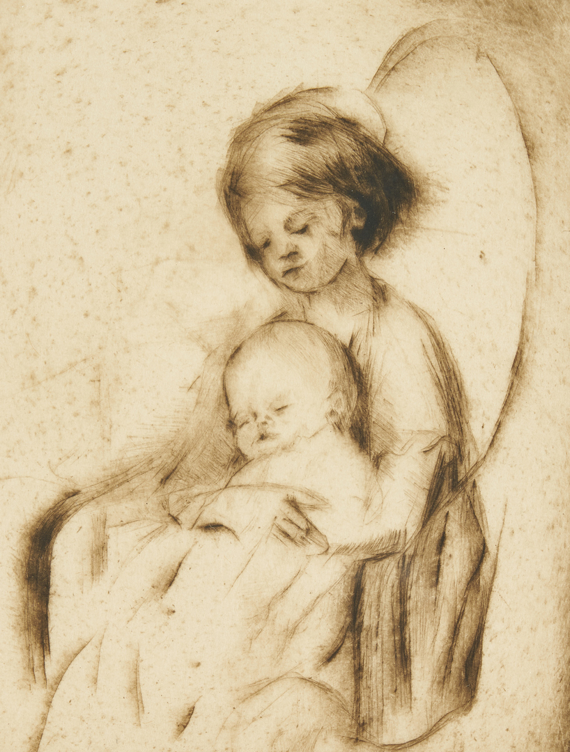 Lot 667: 4 Margery Ryerson Prints, drypoints & etchings