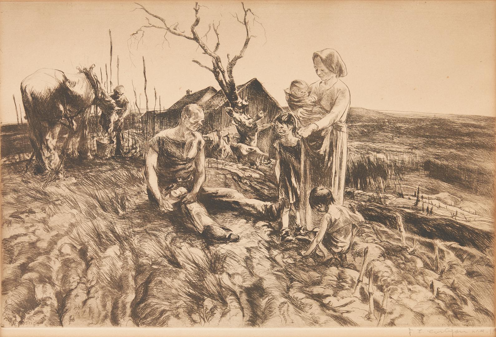 Lot 670: J.E. Costigan Etching and A.A. Dehn Litho