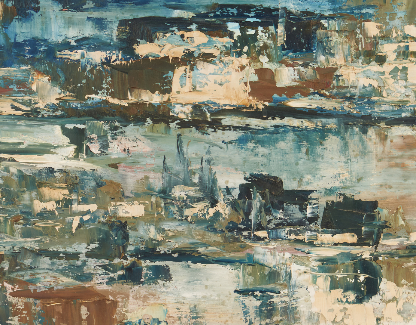 Lot 675: 2 Decorative Paintings, Abstract and Still Life