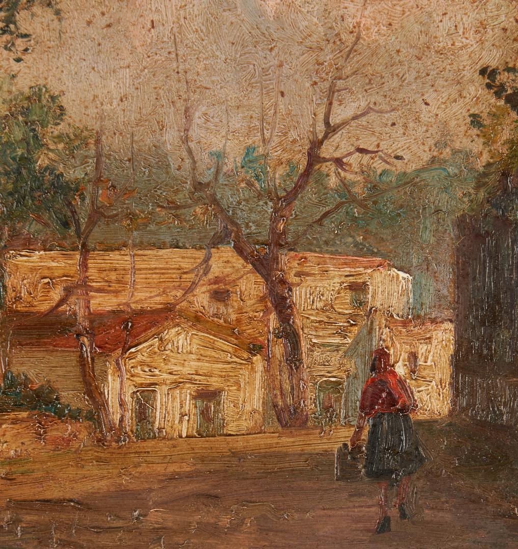 Lot 677: Vincenzo Canino O/C Village Scene
