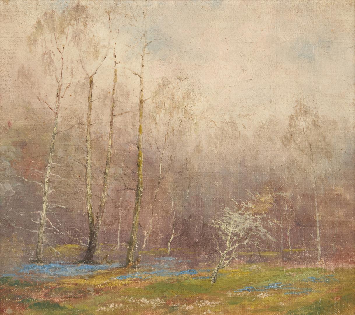 "Lot 678: English O/B ""Spring Wood"" by E. Matthews"
