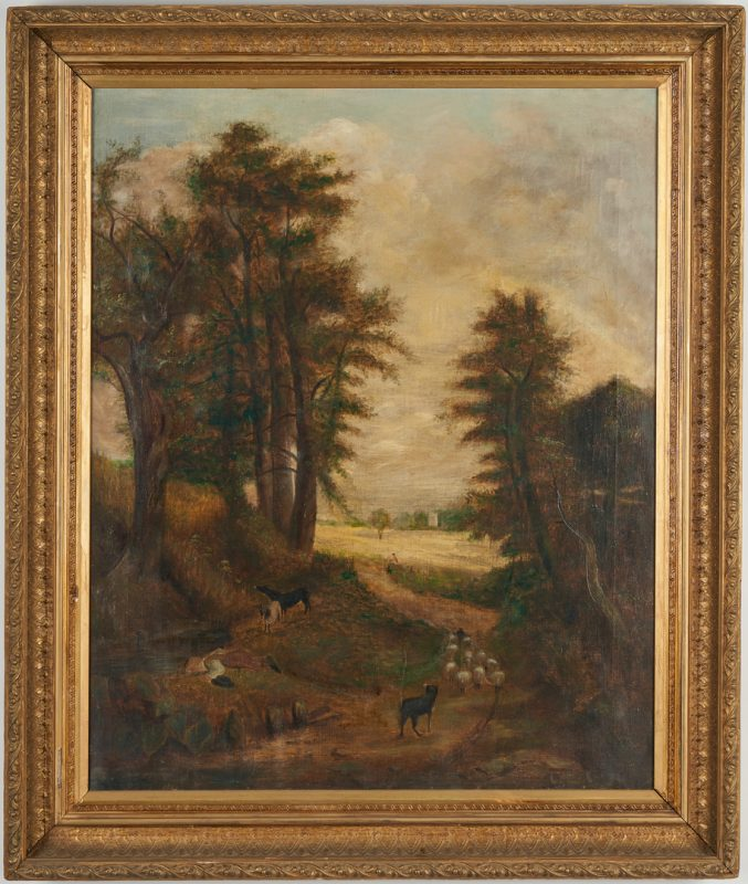 "Lot 679: After John Constable, O/C ""The Cornfield"""