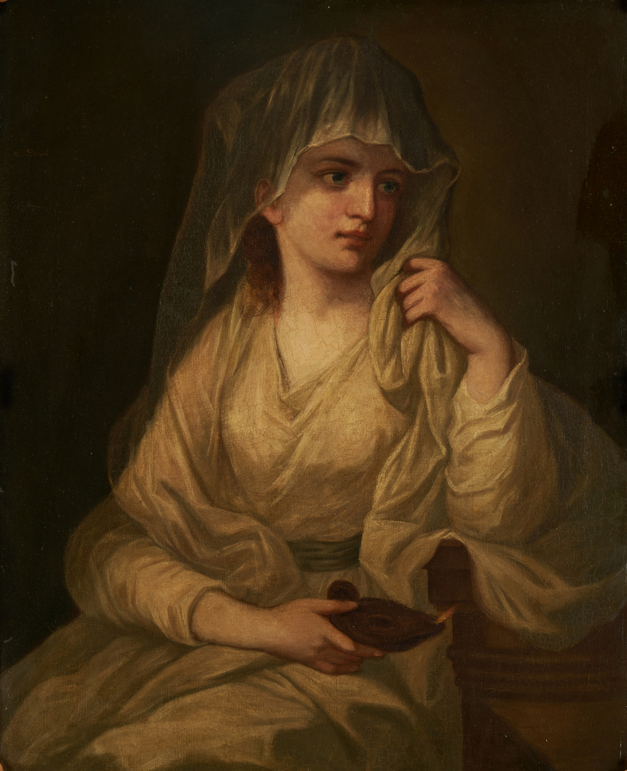 Lot 682: O/C After Angelica Kauffman, Vestal Virgin