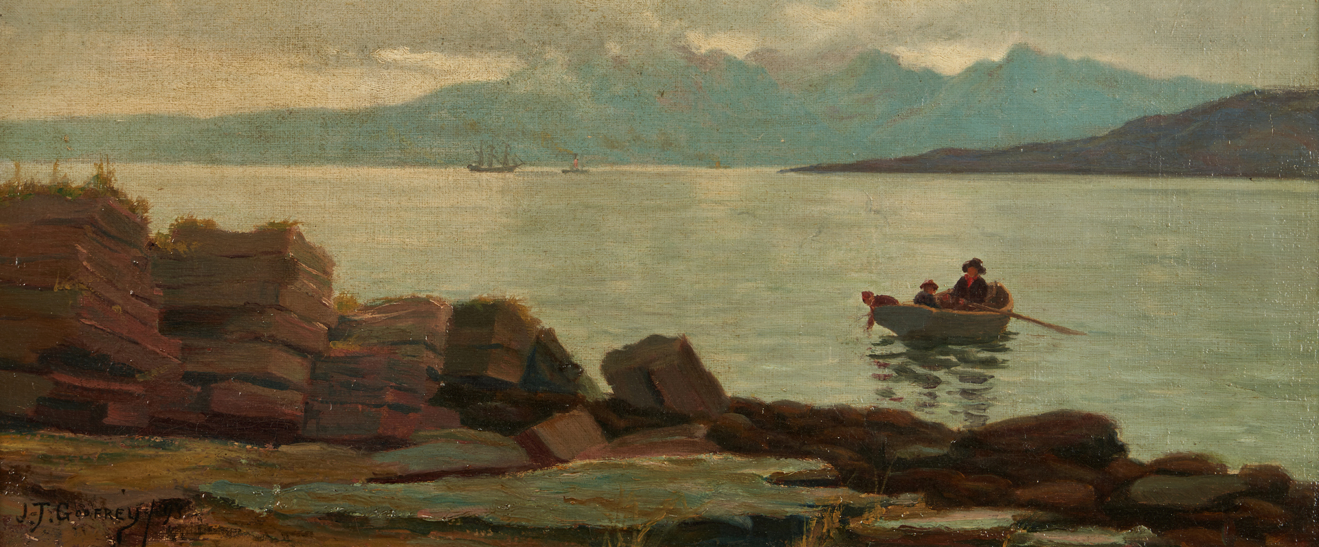 Lot 685: JGT Godfrey Oil Painting, Coastal Scene