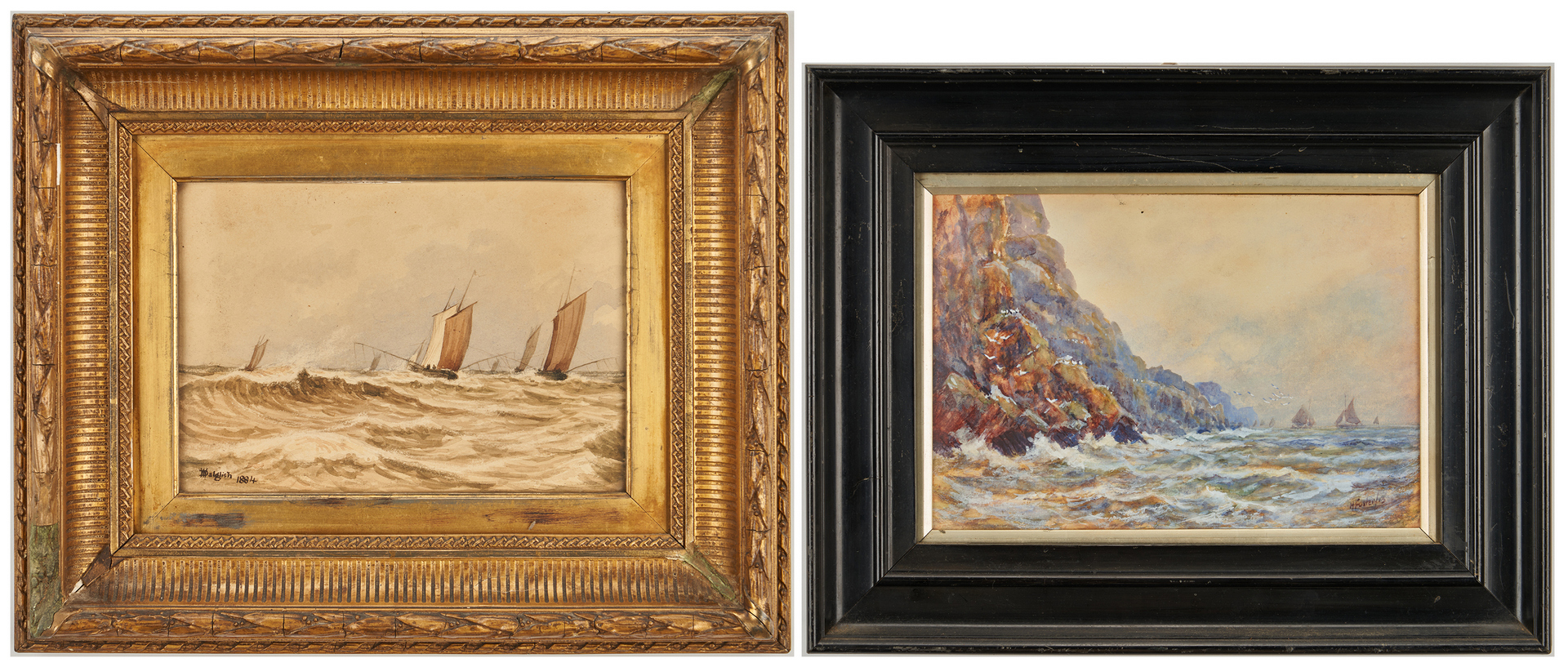 Lot 686: 2 Seascape Paintings by Daglish, Foster