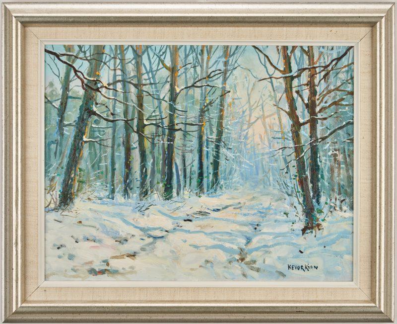 Lot 687: Jean Kevorkian O/C, Forest Path in Winter