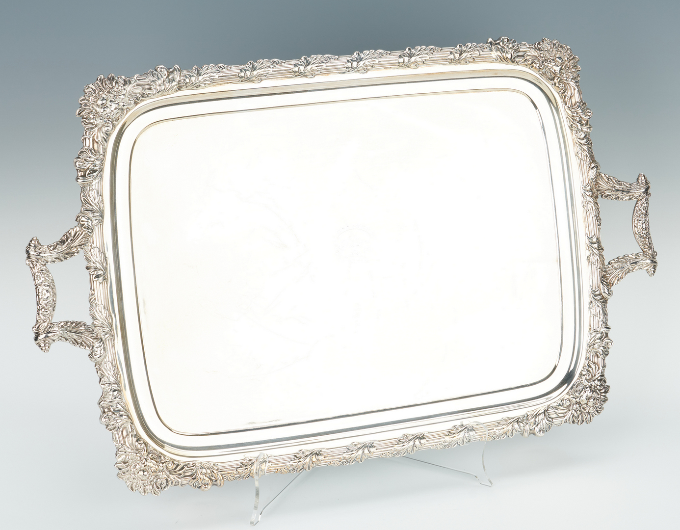 Lot 68: 4 Pc. English Sterling Tea Service + Old Sheffield Tray
