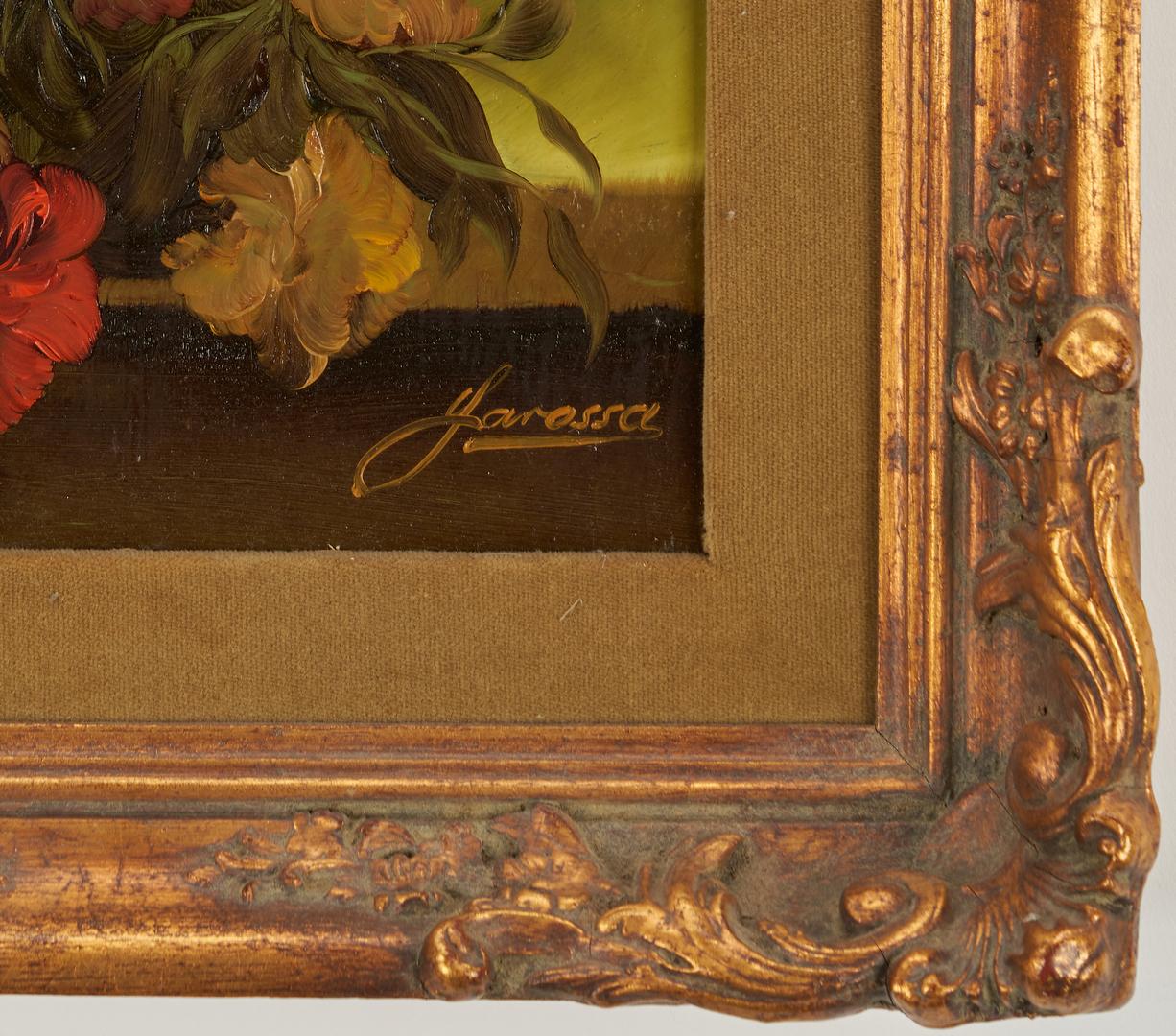 Lot 690: 2 O/B Floral Still Life Paintings, H. Garossa