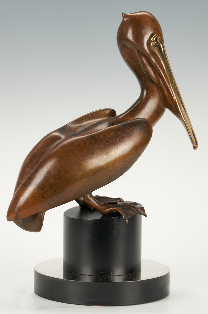 Lot 692: Kim Donaldson Bronze Pelican and Spoonbill Sculptures