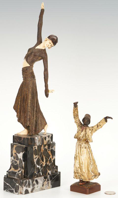 Lot 694: 2 Bronze Figural Sculptures, incl . Bergmann