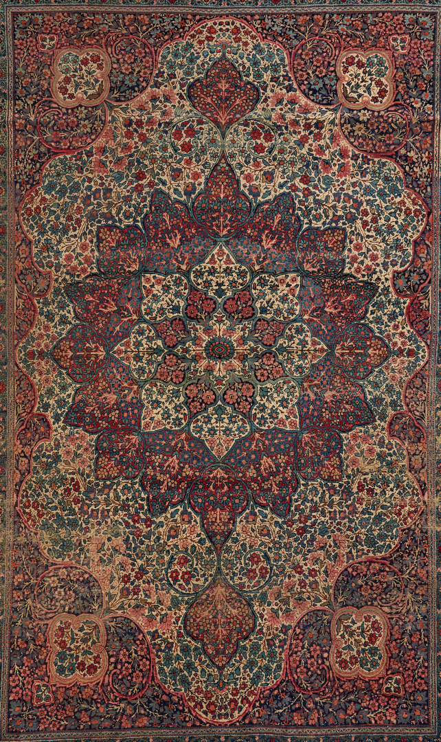 Lot 696: Room Size Persian Kirman Rug, Signed