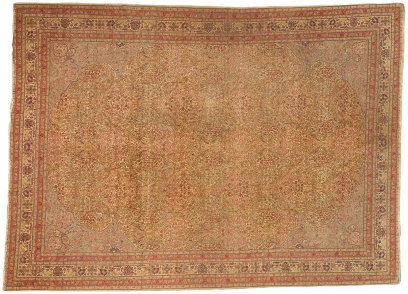 "Lot 697:  Persian Tabriz Carpet, 13.3"" x 9.5"""