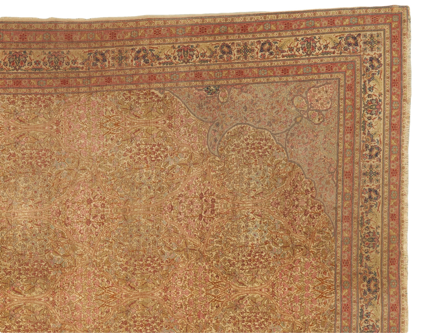 "Lot 697:  Persian Tabriz Carpet, 13.3"" x 9.5"""