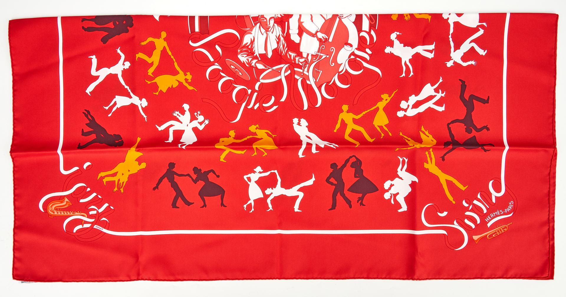 Lot 704: 5 Hermes Scarves, incl. Cave Felem, Les Coupes
