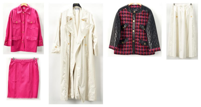 Lot 707: 5 Chanel Designer Items, incl. Leather Jacket