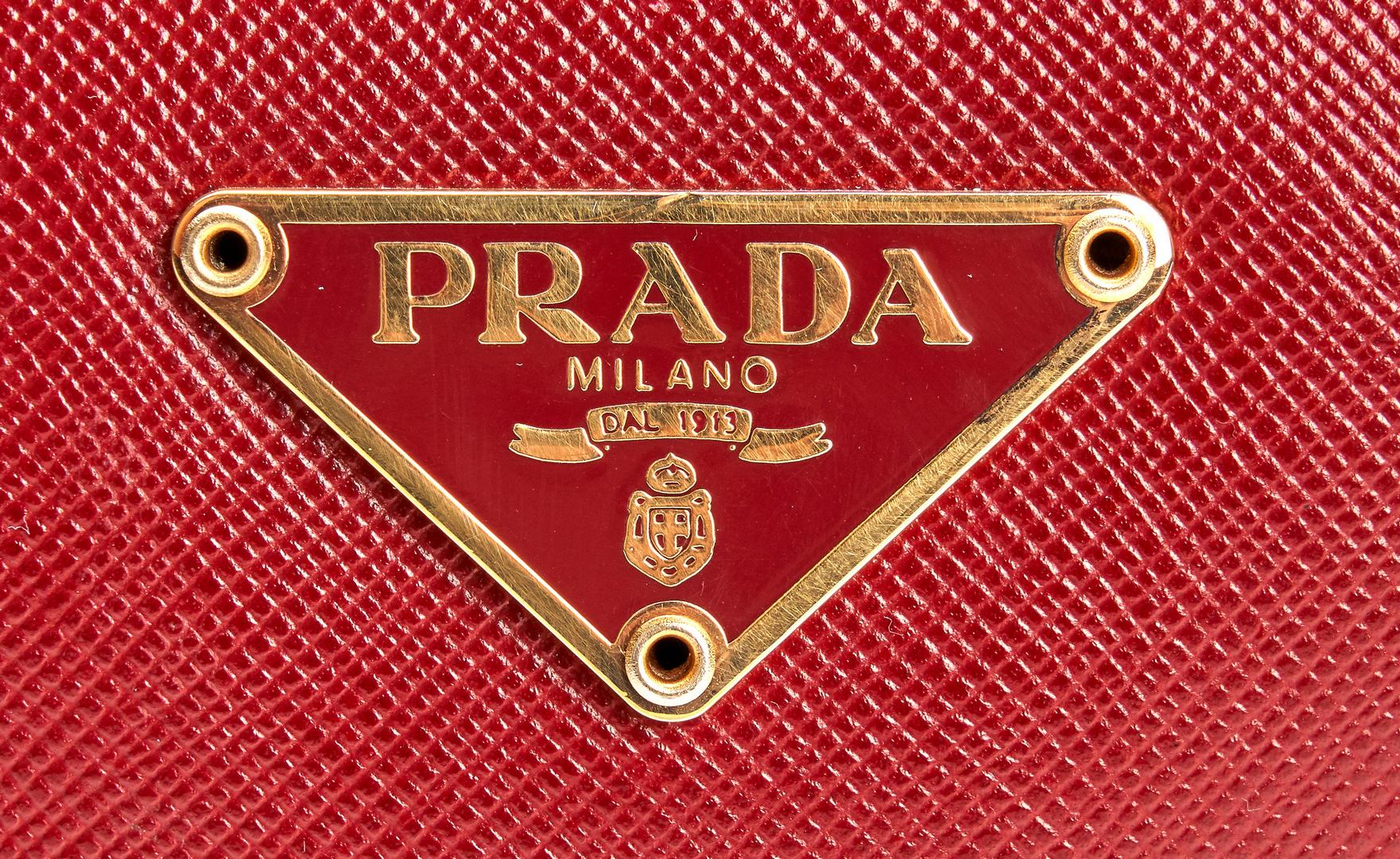 Lot 709: 2 Prada Purses, incl. Mini Promenade Chromo-Silver.