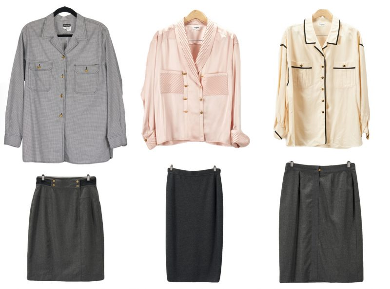 Lot 713: 6 Chanel Designer Items, incl. Skirts/Blouses