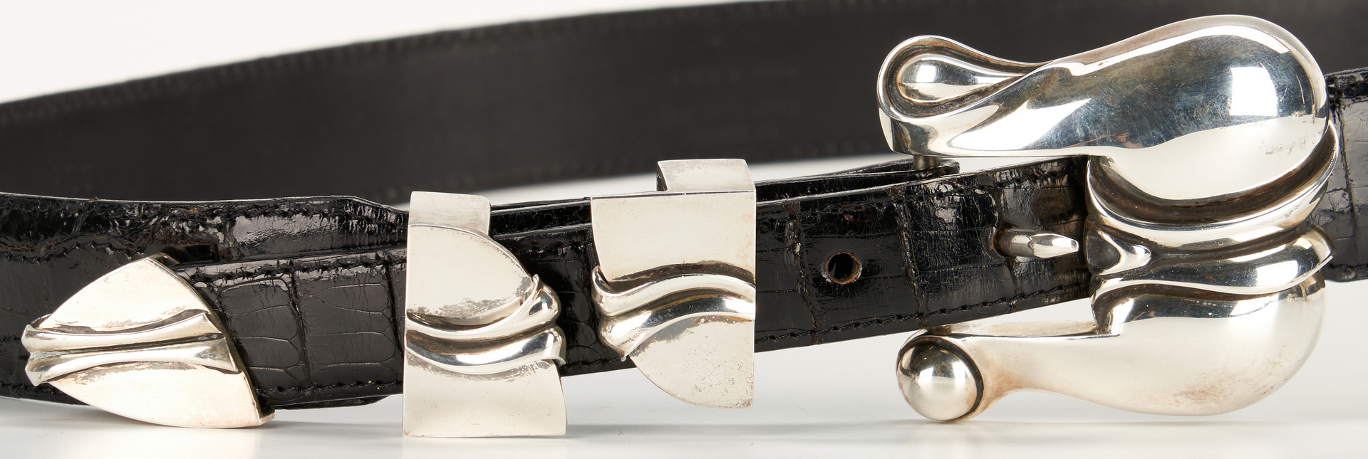 Lot 714: 9 Kieselstein-Cord items, incl. 1 3-pc. belt set