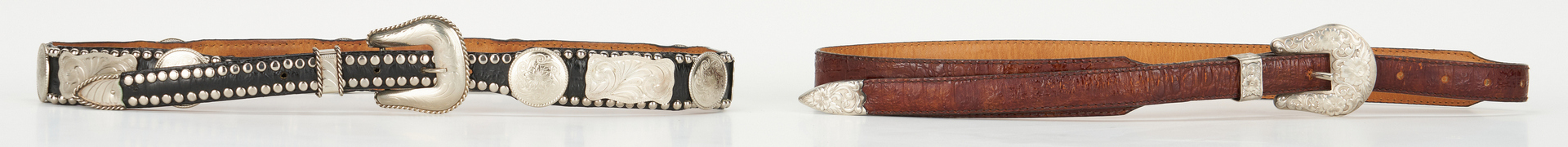 Lot 715: Mexican Sterling Jewelry & Al Beres Belts