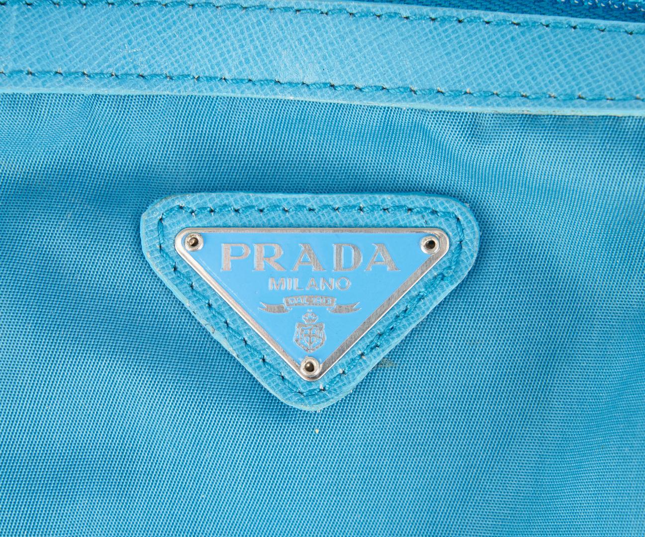 Lot 718: 4 Prada Items, incl. 2 Tessuto Hobo Bags