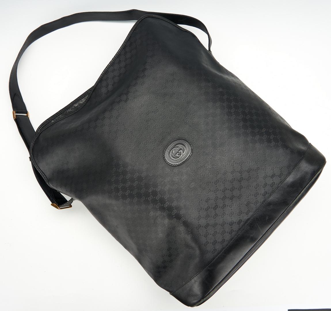 Lot 719: 2 Gucci Monogram Tote Bags & 1 Buckle