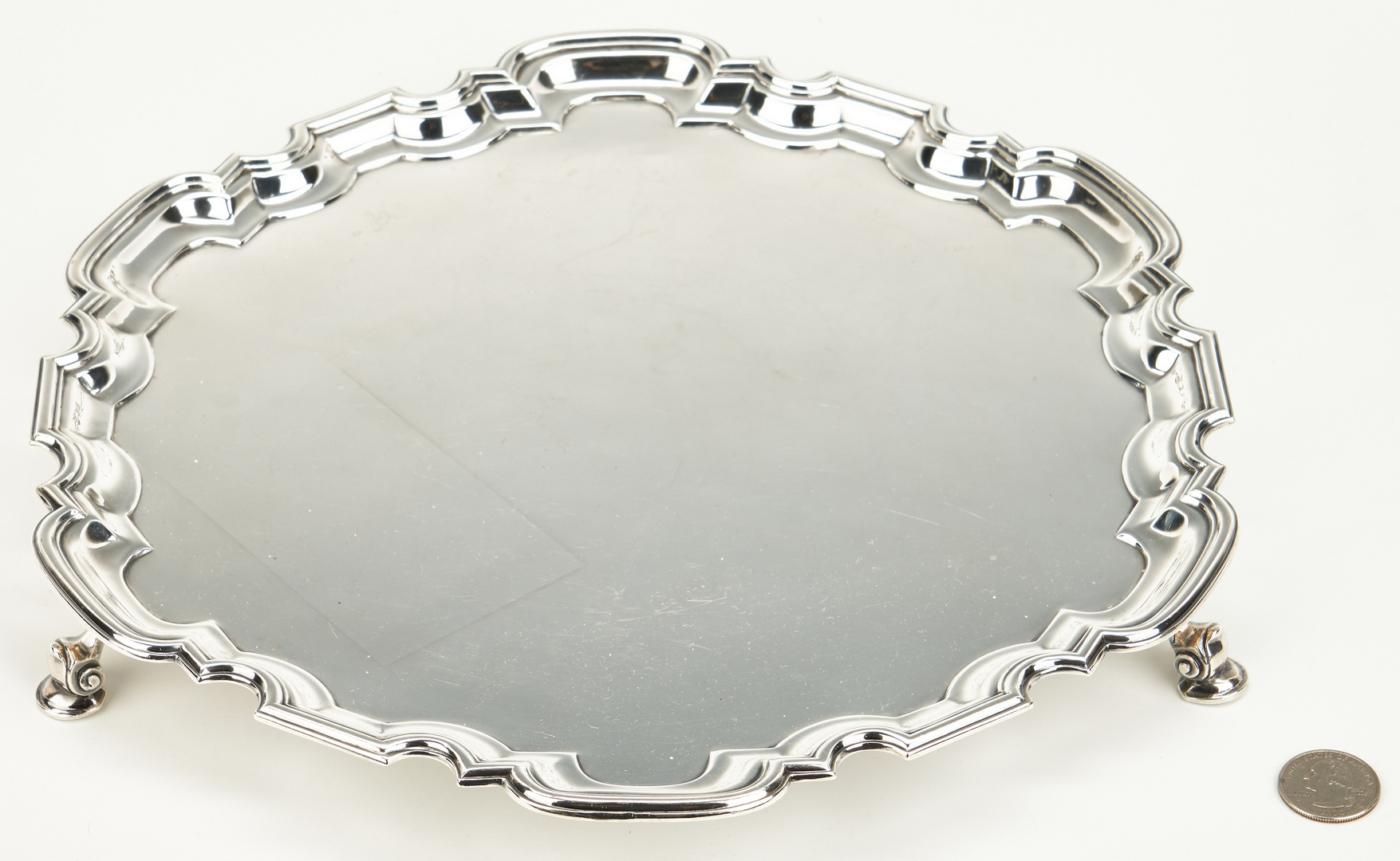 Lot 71: Scottish Sterling Silver Tray or Salver