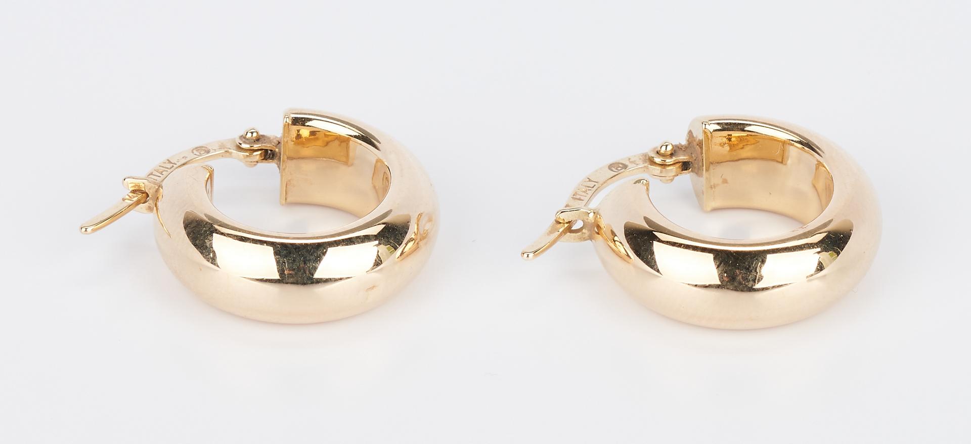 Lot 726: 2 Lady's 14K Bracelets & 2 Prs. 14K Earrings