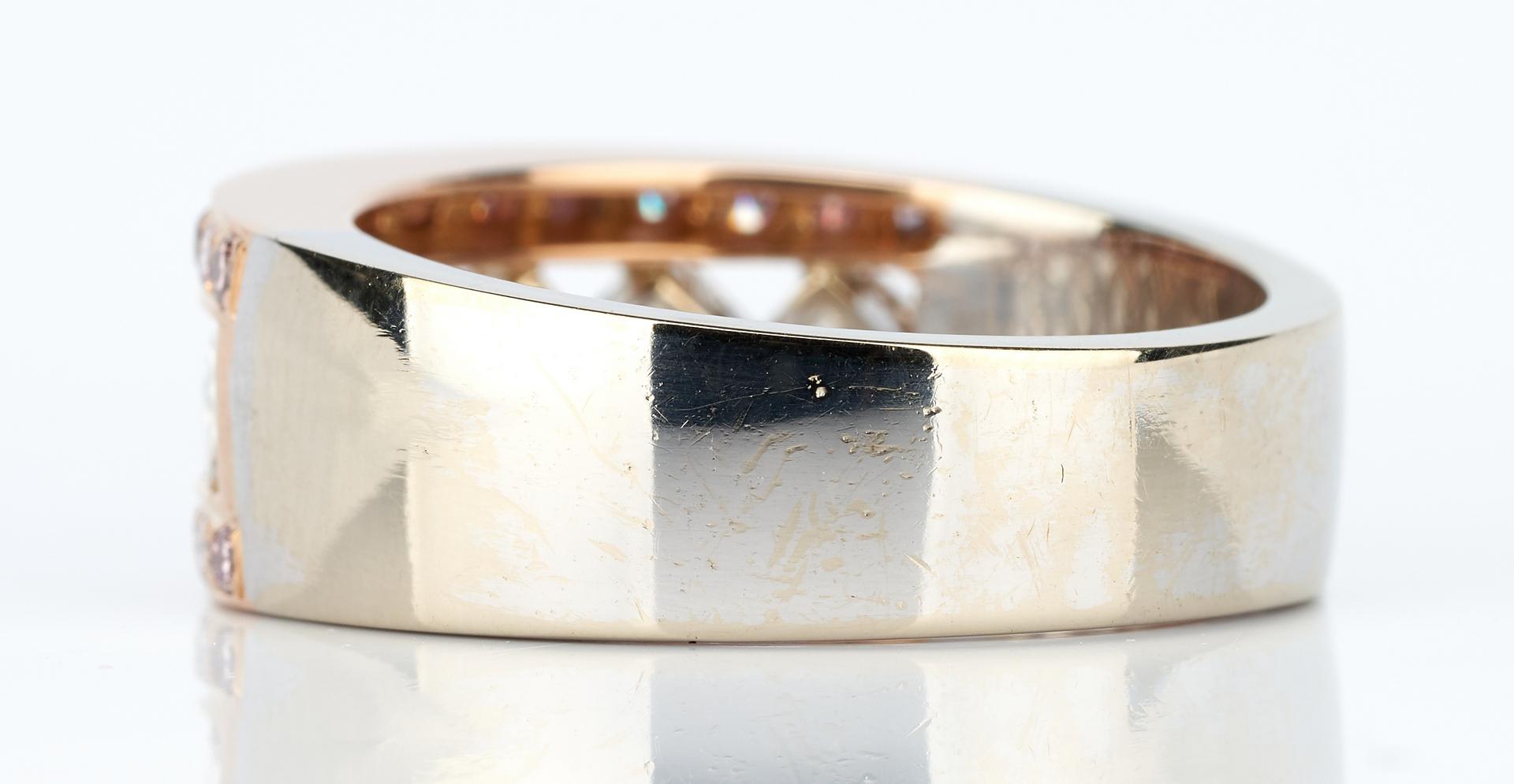 Lot 730: Ladies 18K White and Rose Gold & Diamond Ring