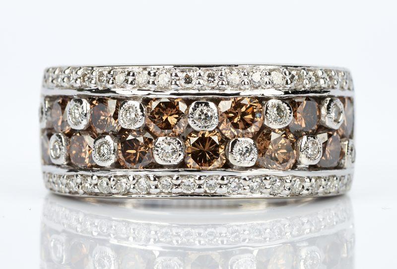 Lot 740: Ladies 14K Levian Chocolate Diamond Ring