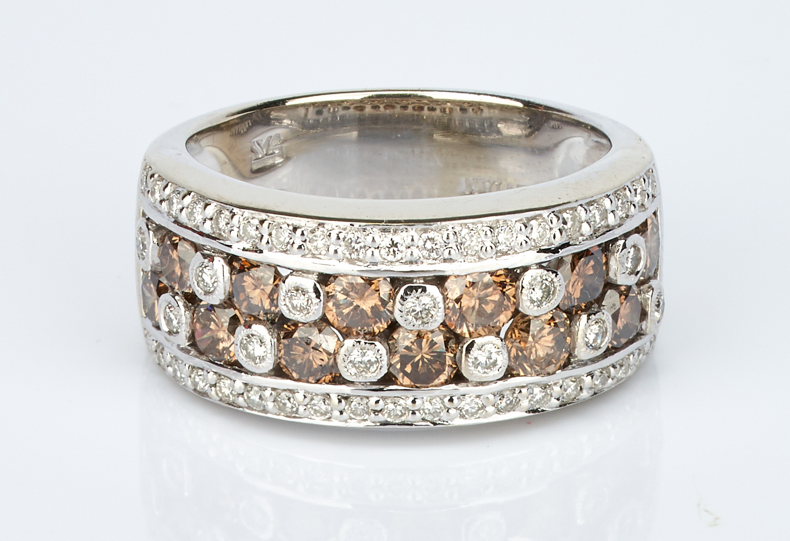 Lot 740: Ladies 14K Levian Chocolate Diamond Ring