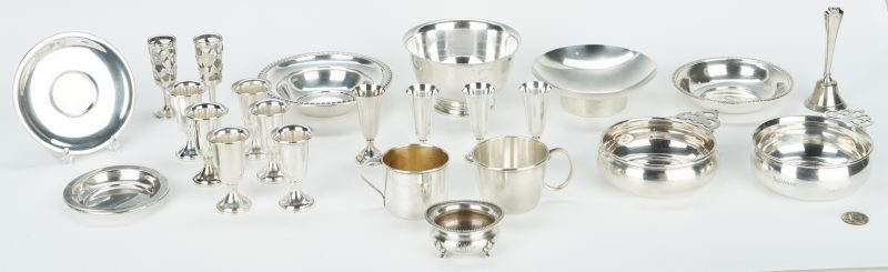 Lot 745: Grouping 24 Sterling Silver Items, incl. Holloware