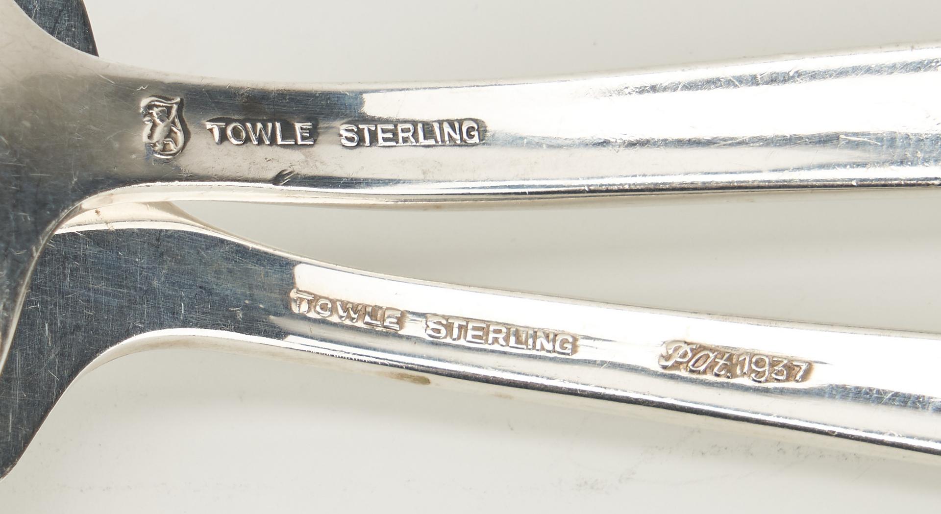Lot 747: 41 Pcs. Towle Sterling Flatware, most Rambler Rose