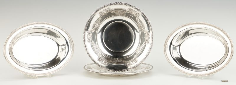 Lot 748: 4 Sterling Silver Holloware Items, Elmore & Fisher