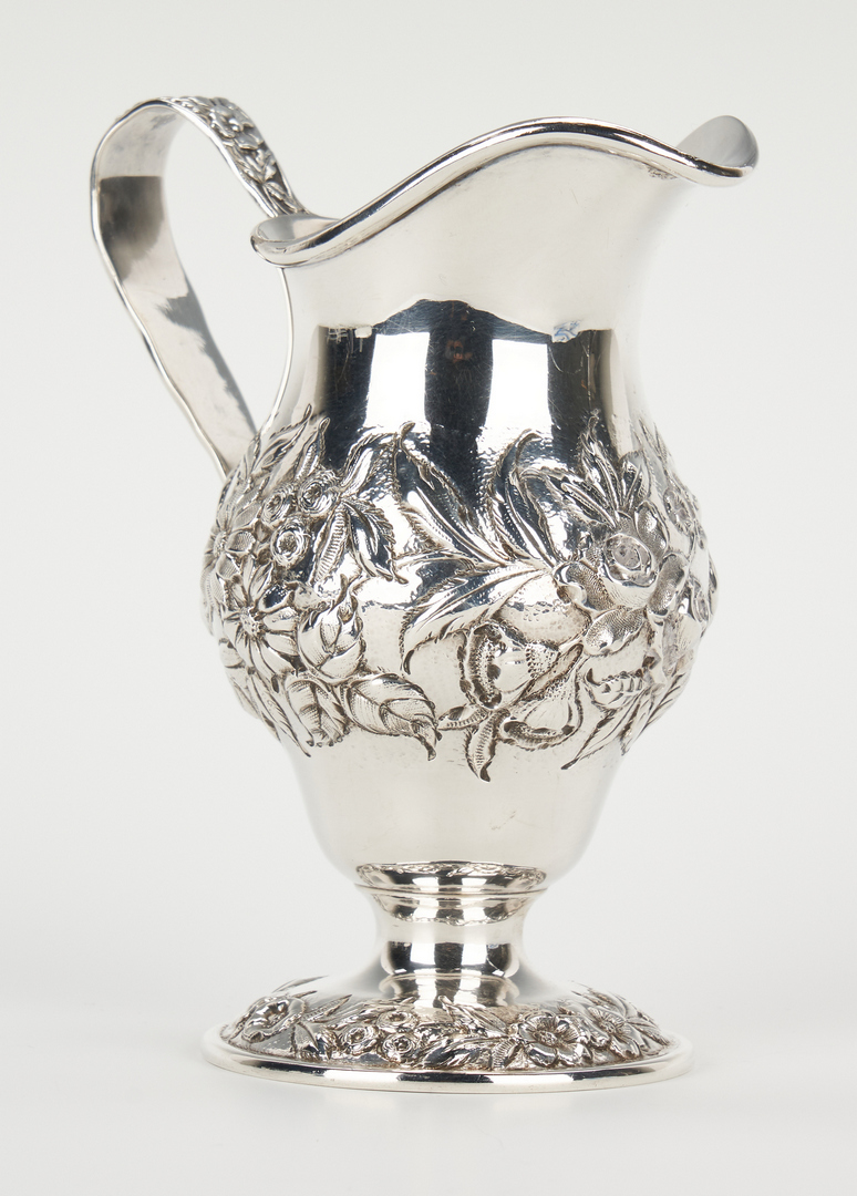 Lot 749: 6 pcs. Sterling Holloware incl. Rose Point Bowl & Kirk Creamer