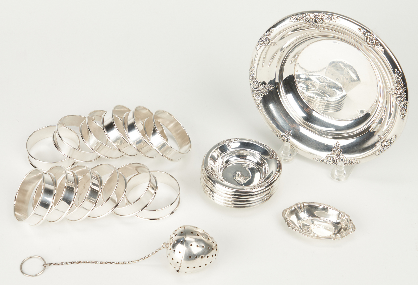 Lot 751: 56 Pieces Assorted Sterling Silver