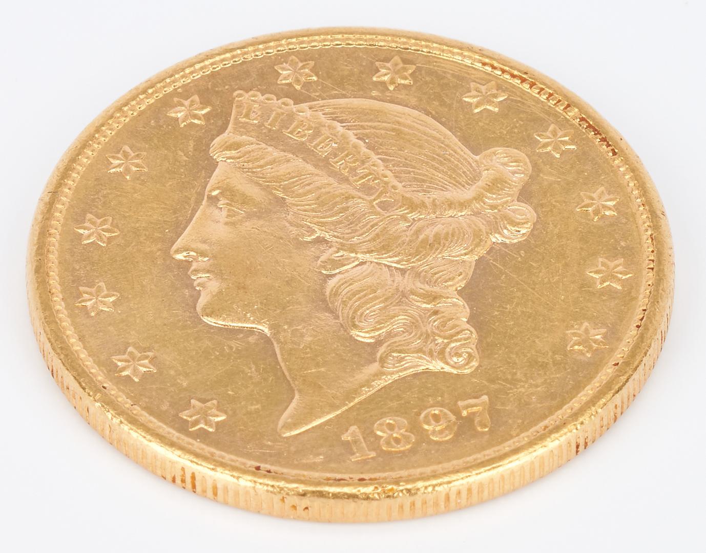 Lot 756: 1897 $20 Liberty Head Double Eagle