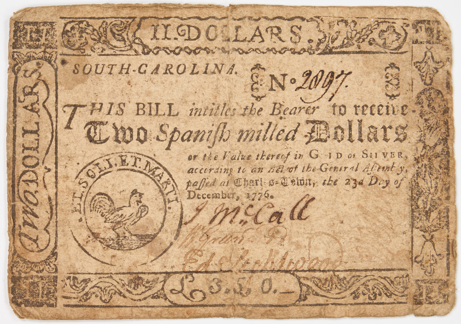 Lot 763: 62 Southern Obsolete Notes, incl. Colonial, Civil War era
