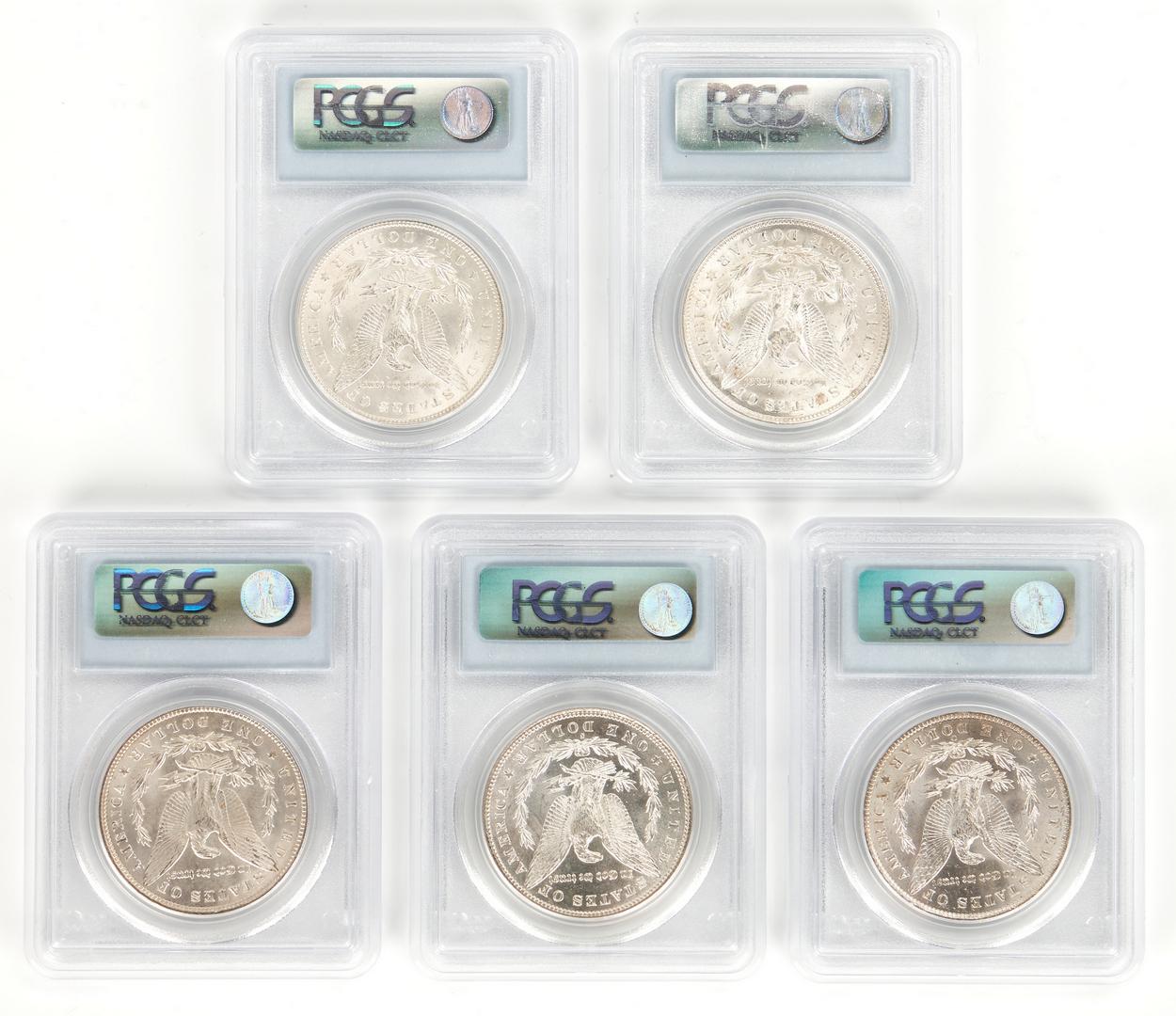 Lot 765: 10 PCGS Graded Morgan Silver Dollars, incl. MS63